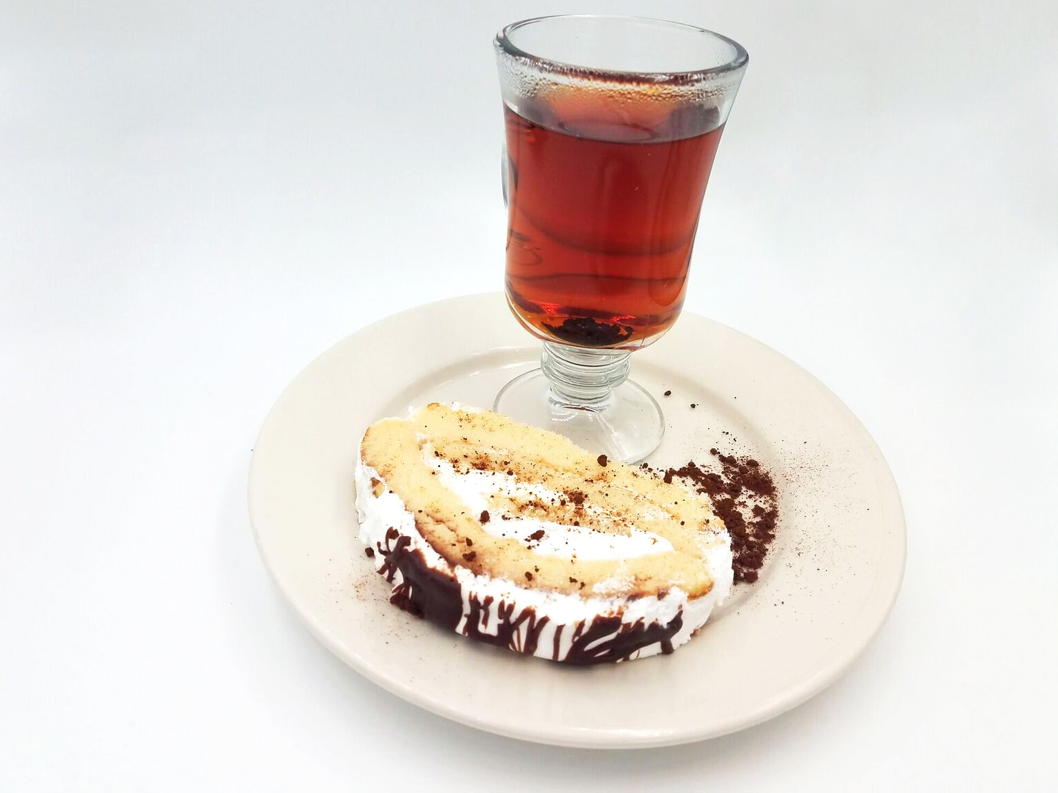 Rolled Cake and Tea