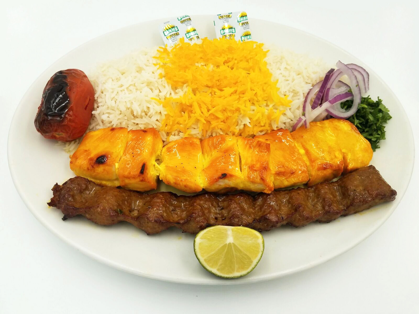 Chicken Kabob Soltani $18.00